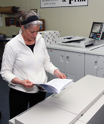 Paula Beauvais, owner of Village Copy and Print in Essex Junction Vermont